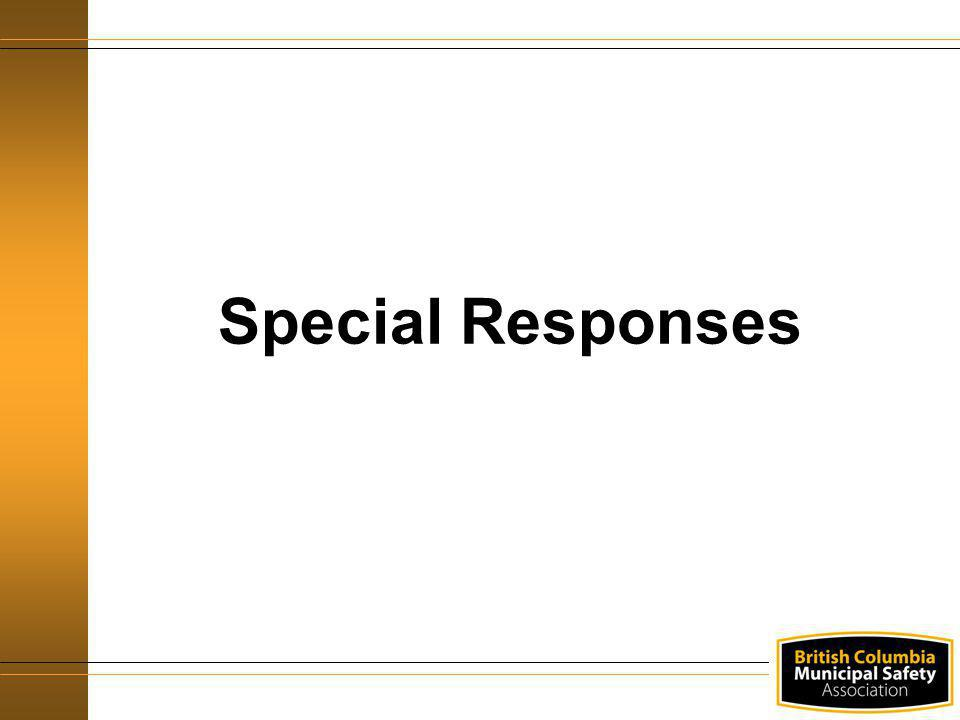 Special Responses