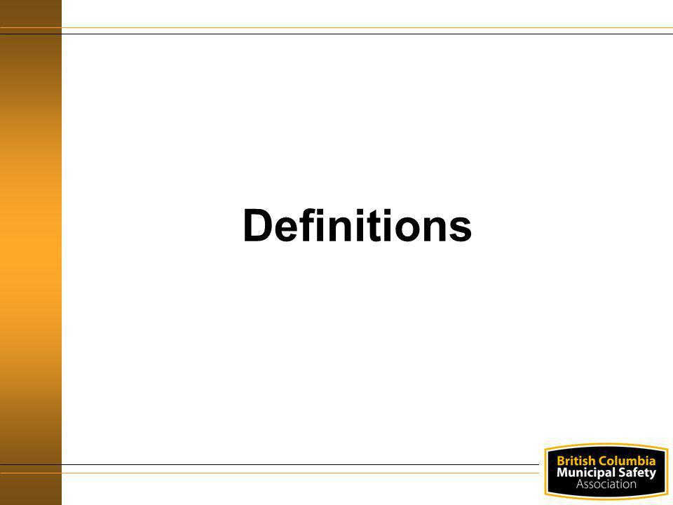Definitions Display the overhead title and explain the following as you continue to expose the overhead one line at a time: