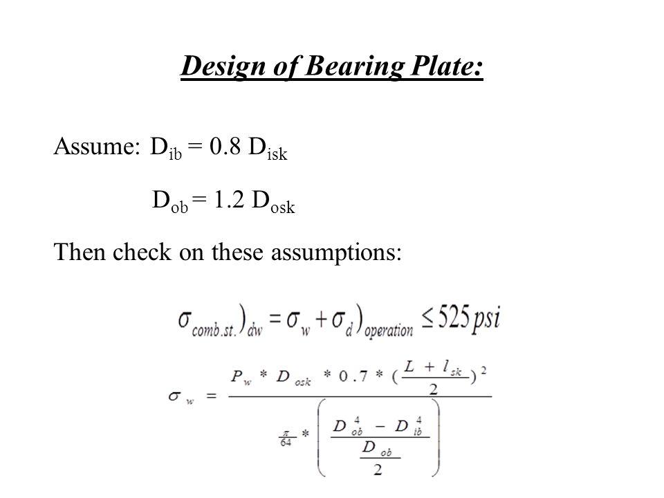 Design of Bearing Plate: