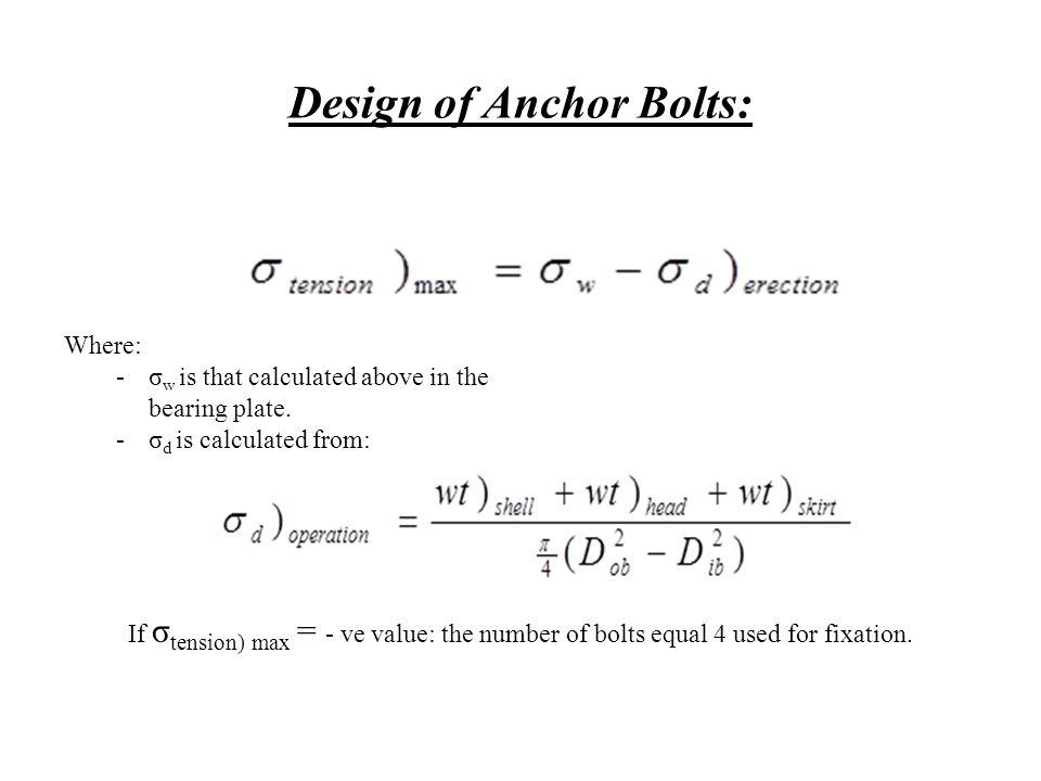 Design of Anchor Bolts: