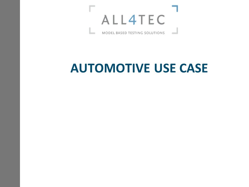 AUTOMOTIVE USE CASE
