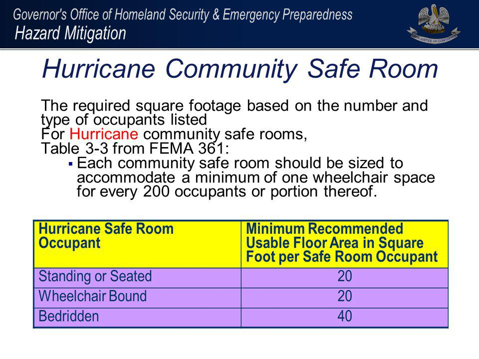 Hurricane Community Safe Room