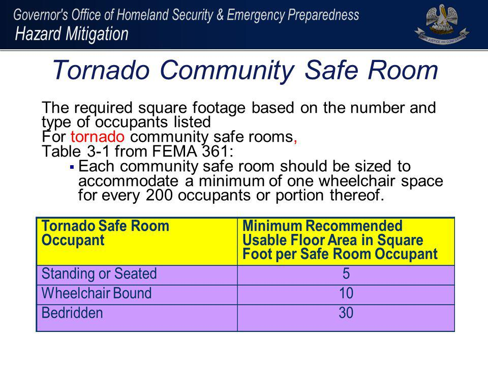 Tornado Community Safe Room