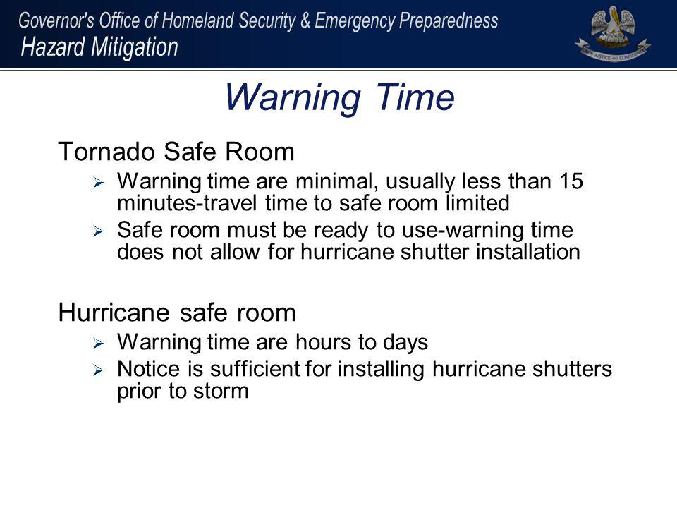 Warning Time Tornado Safe Room Hurricane safe room