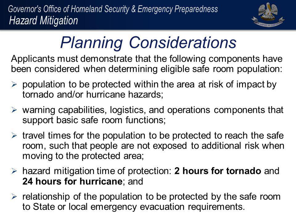 Planning Considerations