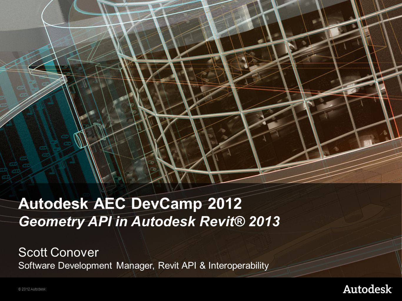 Autodesk AEC DevCamp 2012 Geometry API in Autodesk Revit® 2013
