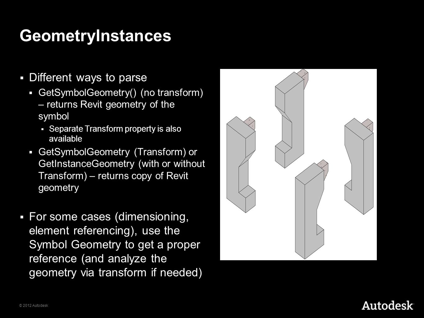 GeometryInstances Different ways to parse
