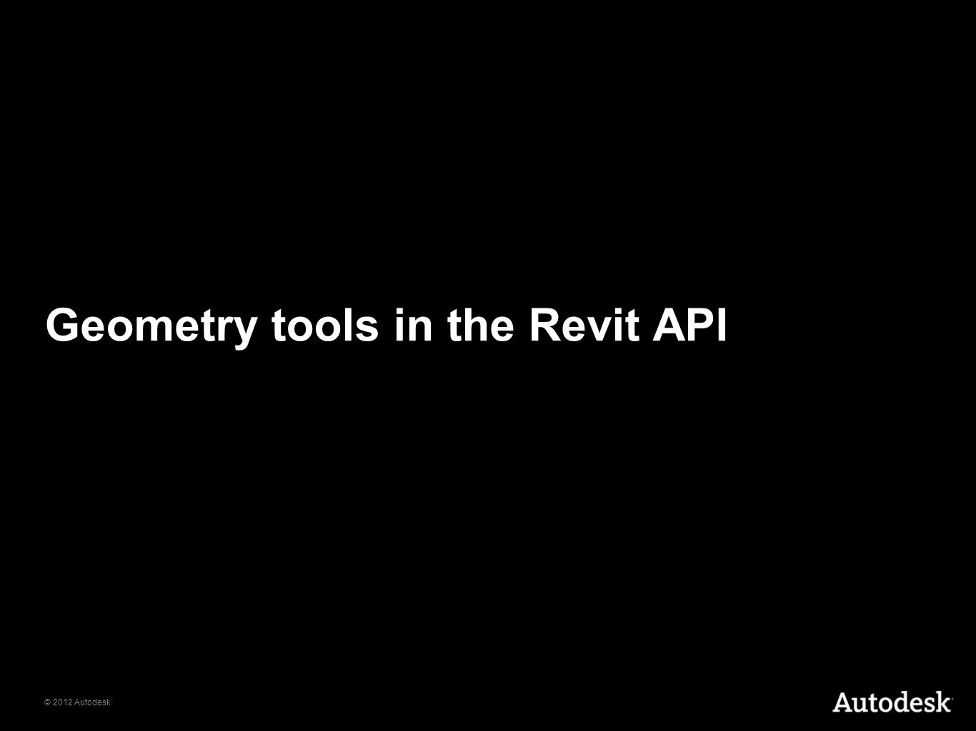 Geometry tools in the Revit API