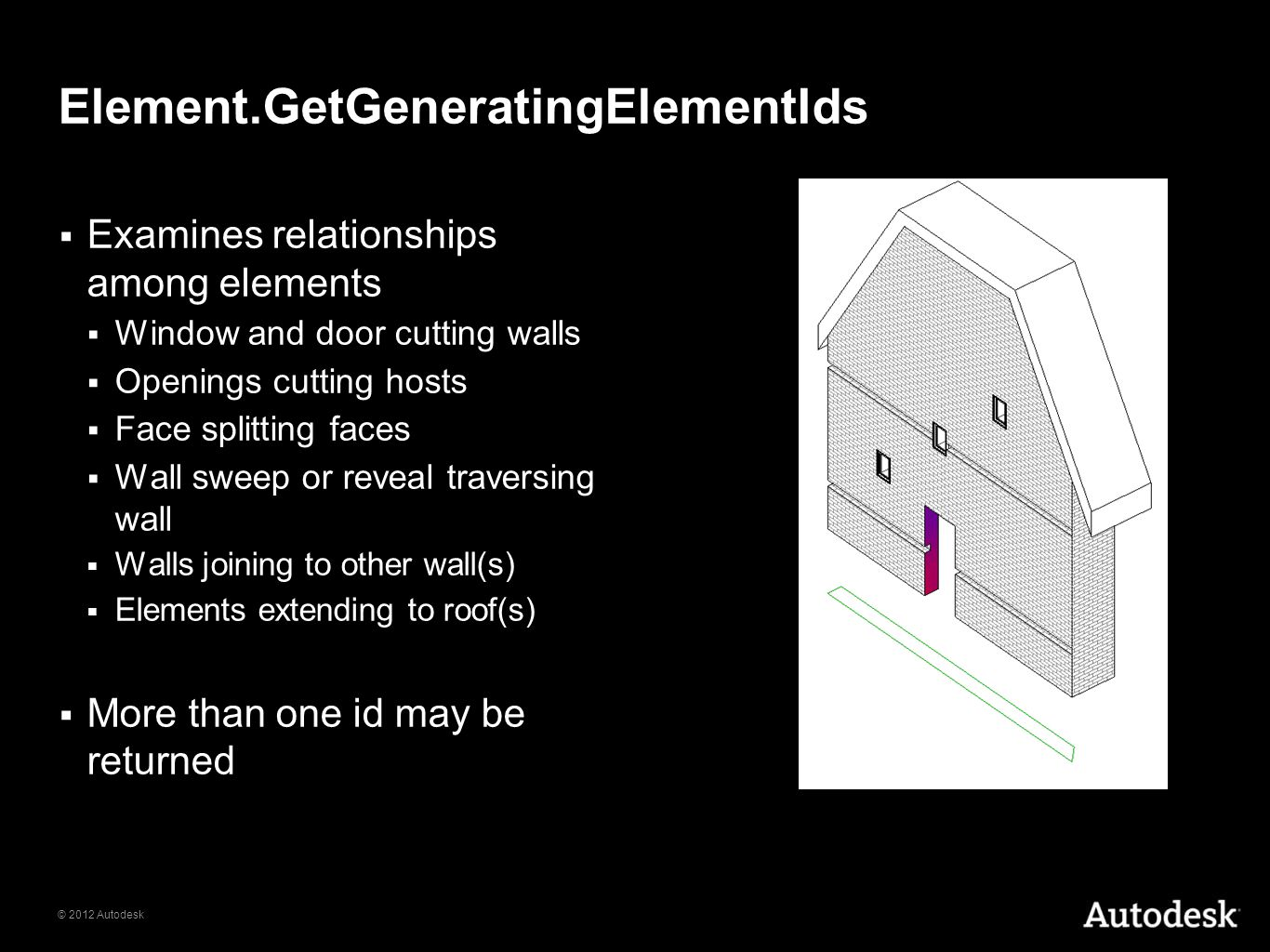 Element.GetGeneratingElementIds