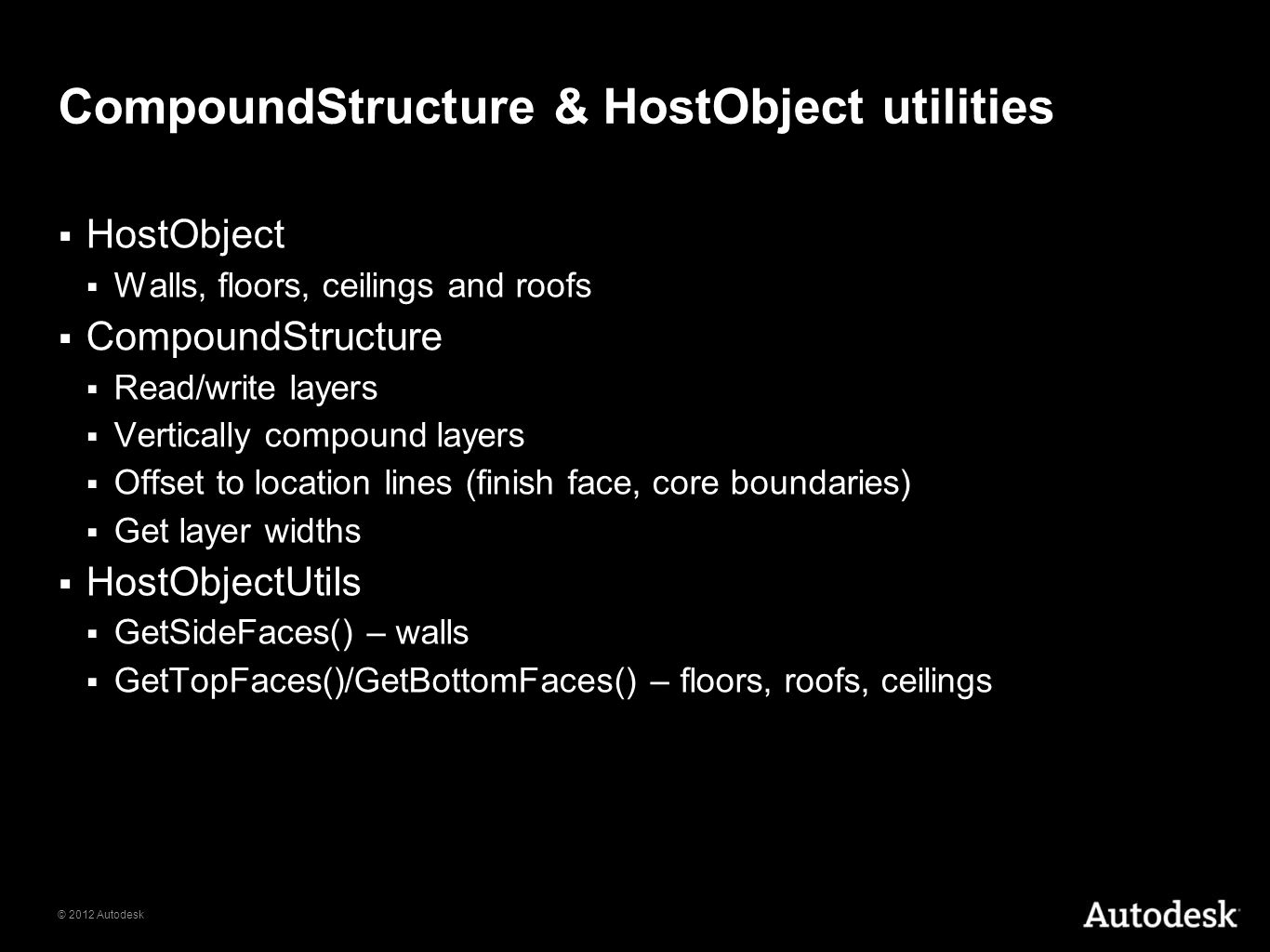 CompoundStructure & HostObject utilities