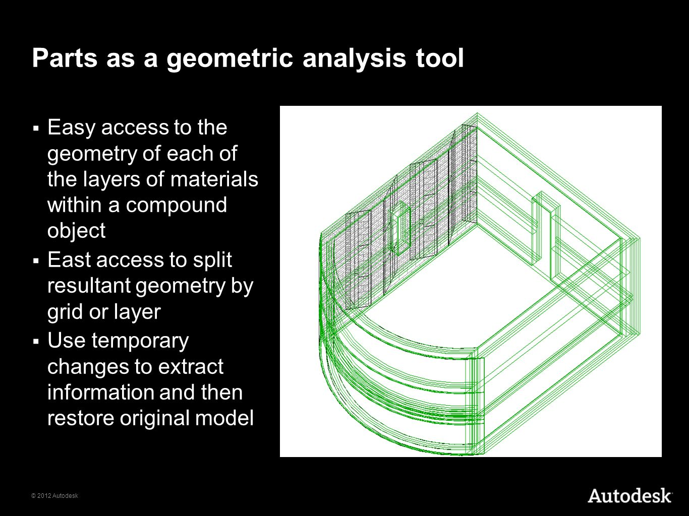 Parts as a geometric analysis tool