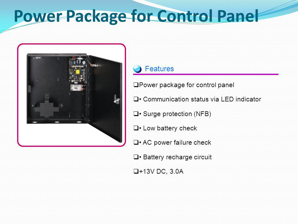Power Package for Control Panel