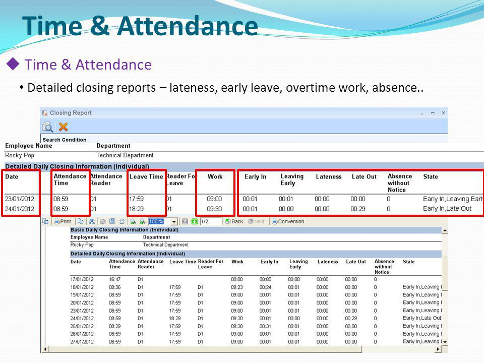 Time & Attendance Time & Attendance