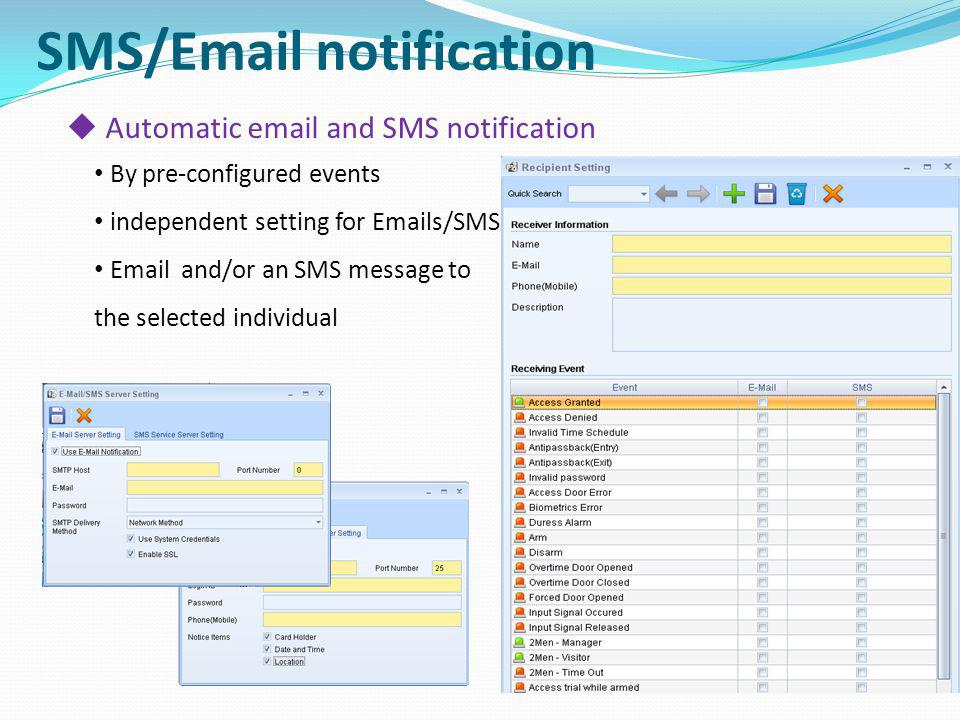 SMS/Email notification