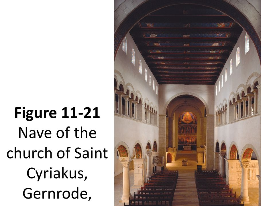 Figure 11-21 Nave of the church of Saint Cyriakus, Gernrode, Germany, 961–973.