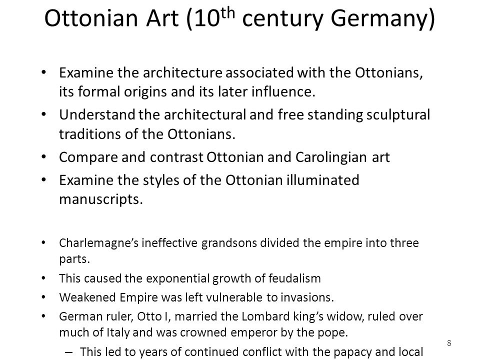 Ottonian Art (10th century Germany)
