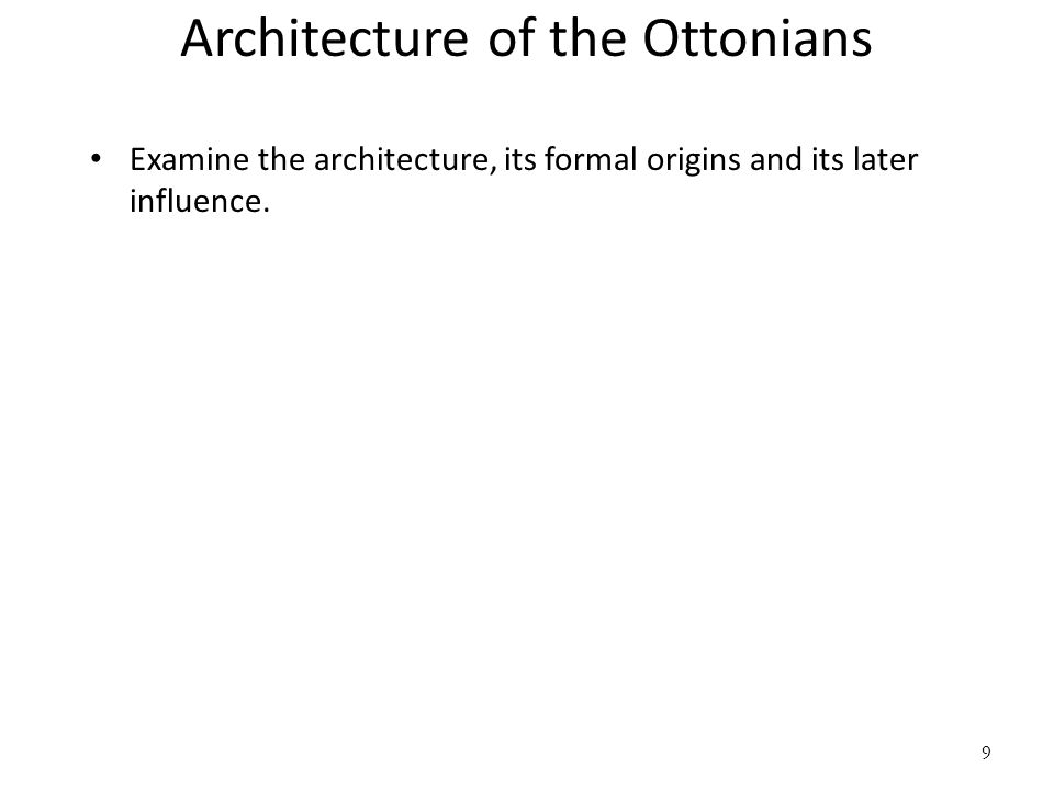 Architecture of the Ottonians