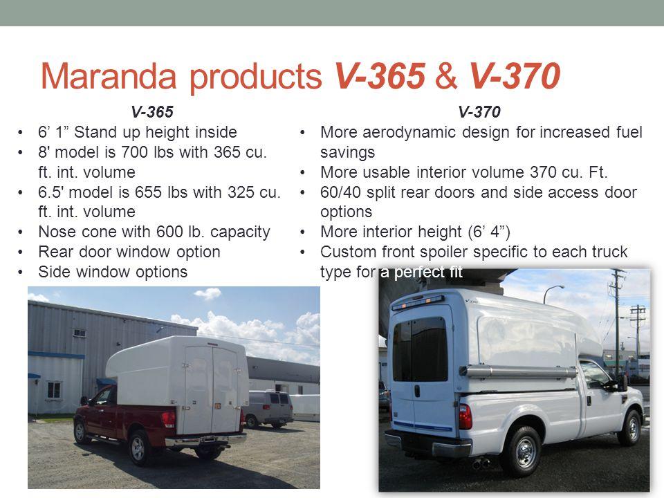 Maranda products V-365 & V-370
