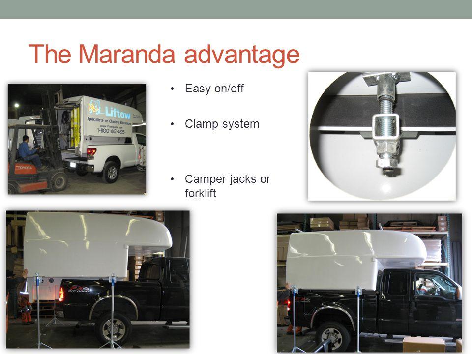 The Maranda advantage Easy on/off Clamp system