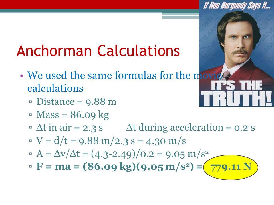 Anchorman Calculations