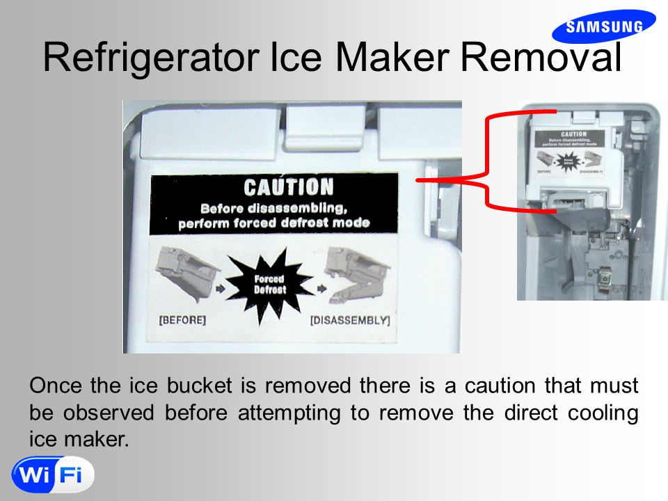 Refrigerator Ice Maker Removal