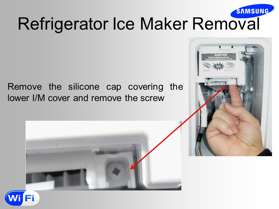 Refrigerator Ice Maker Removal