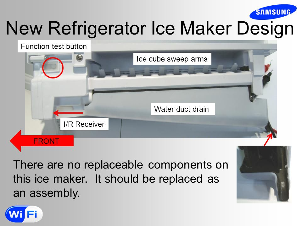 New Refrigerator Ice Maker Design
