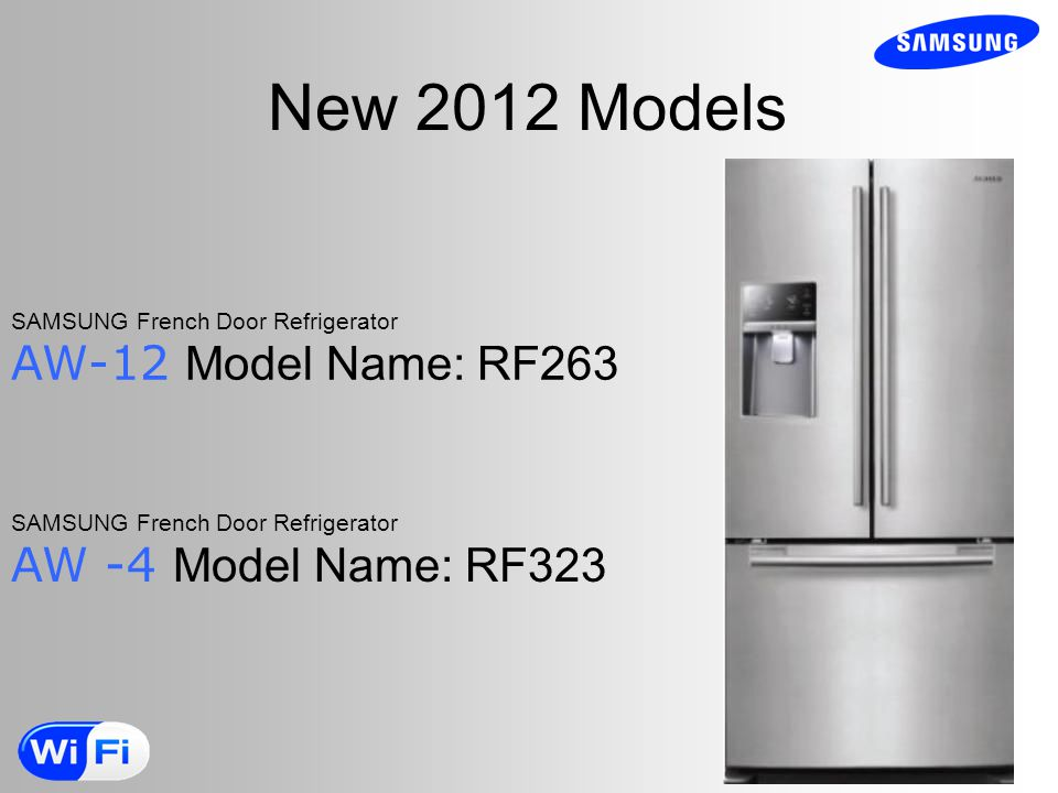 New 2012 Models AW-12 Model Name: RF263 AW -4 Model Name: RF323