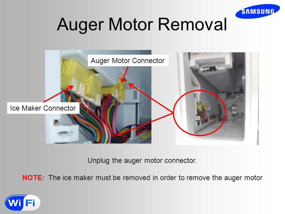 Unplug the auger motor connector.