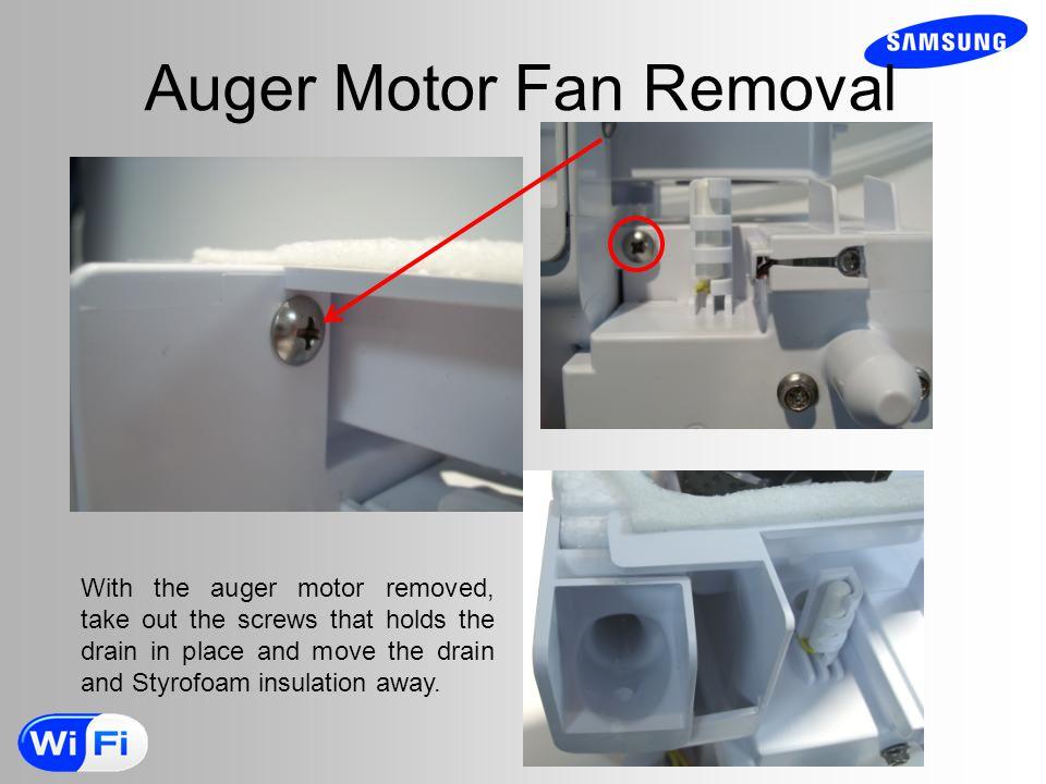 Auger Motor Fan Removal