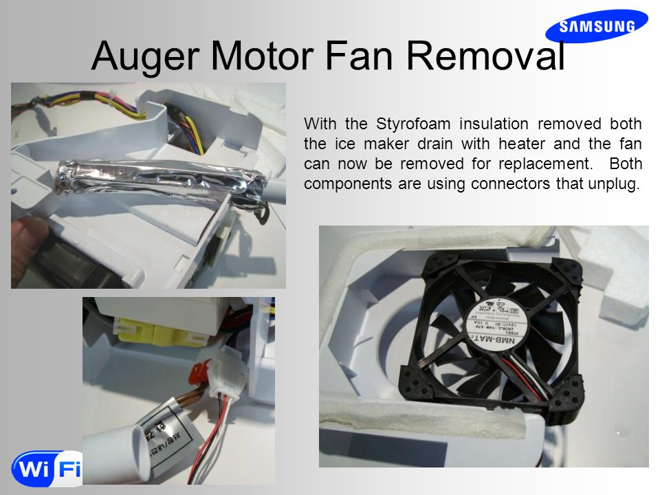 Auger Motor Fan Removal