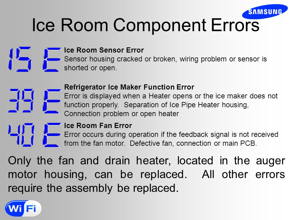 Ice Room Component Errors