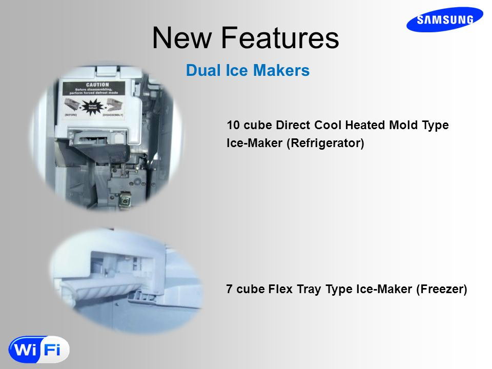 New Features Dual Ice Makers 10 cube Direct Cool Heated Mold Type