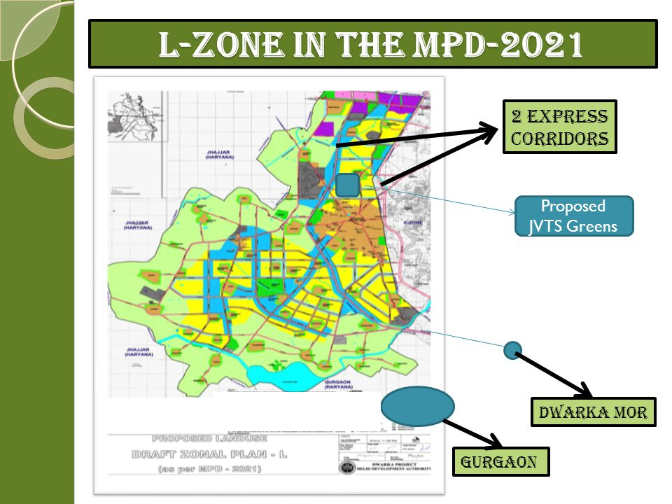 L-Zone in the MPD-2021 2 Express Corridors Proposed JVTS Greens