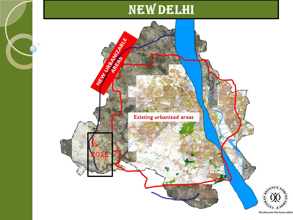Existing urbanized areas