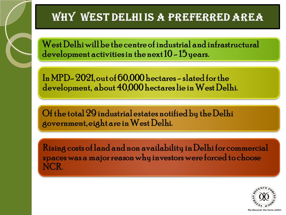 Why West Delhi is a preferred area