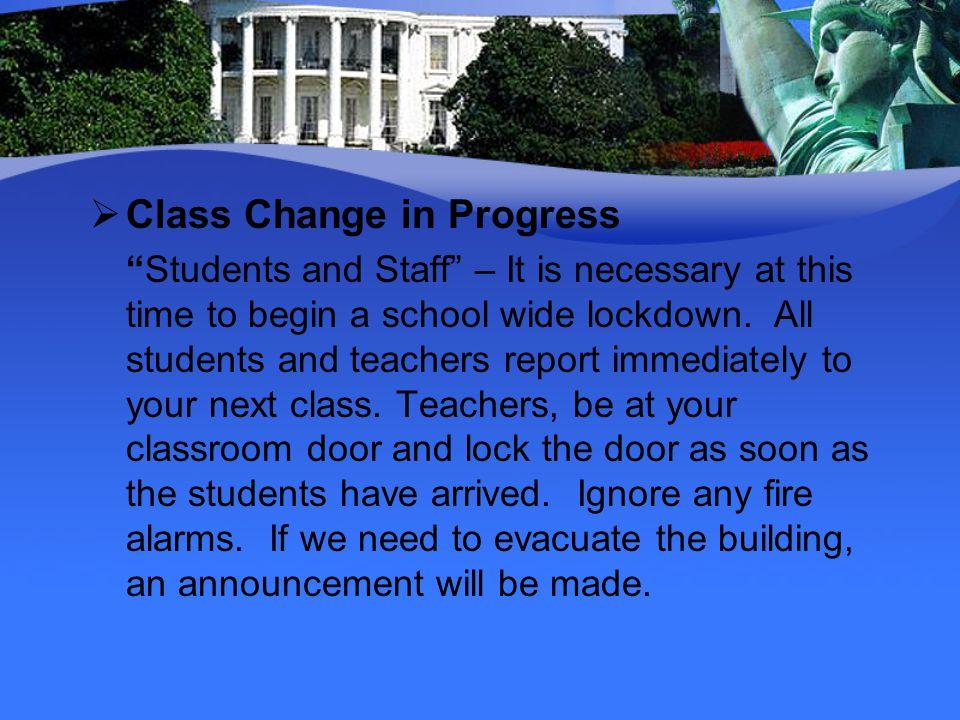 Class Change in Progress