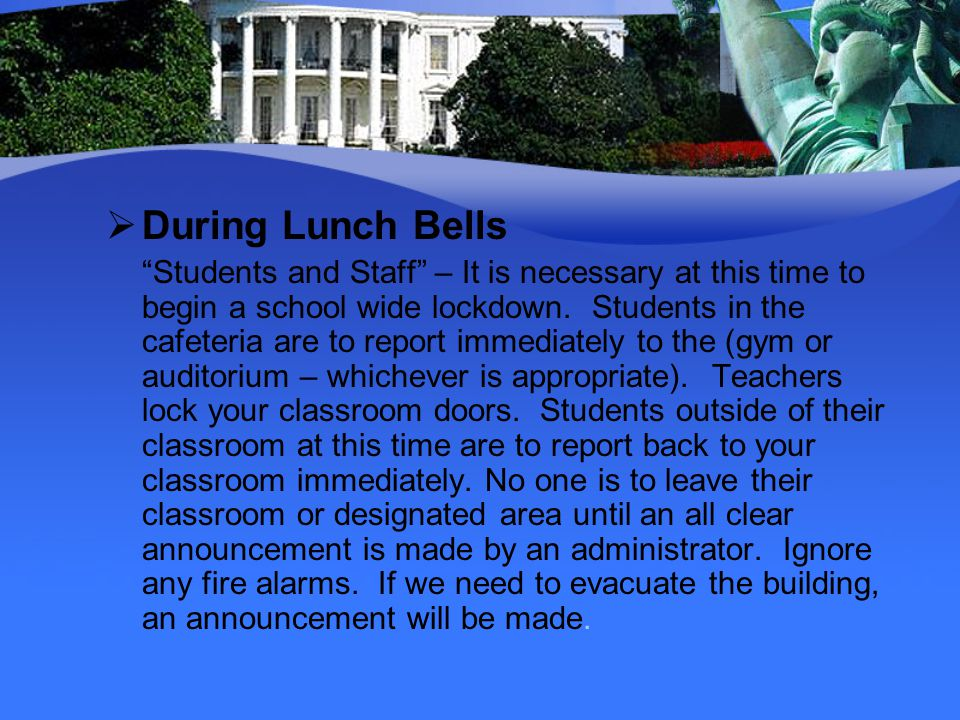 During Lunch Bells