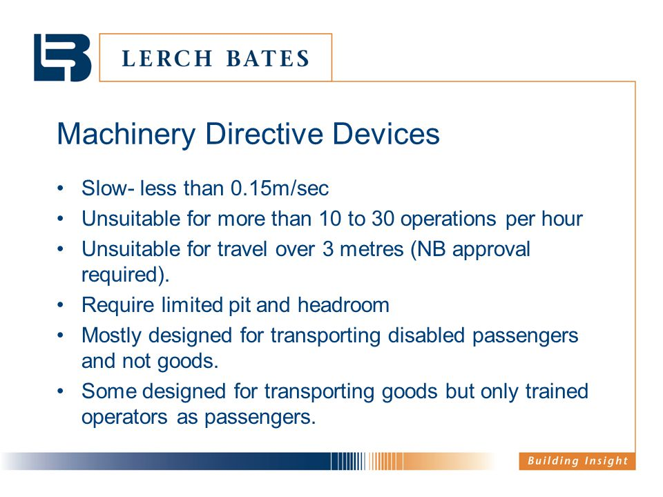 Machinery Directive Devices