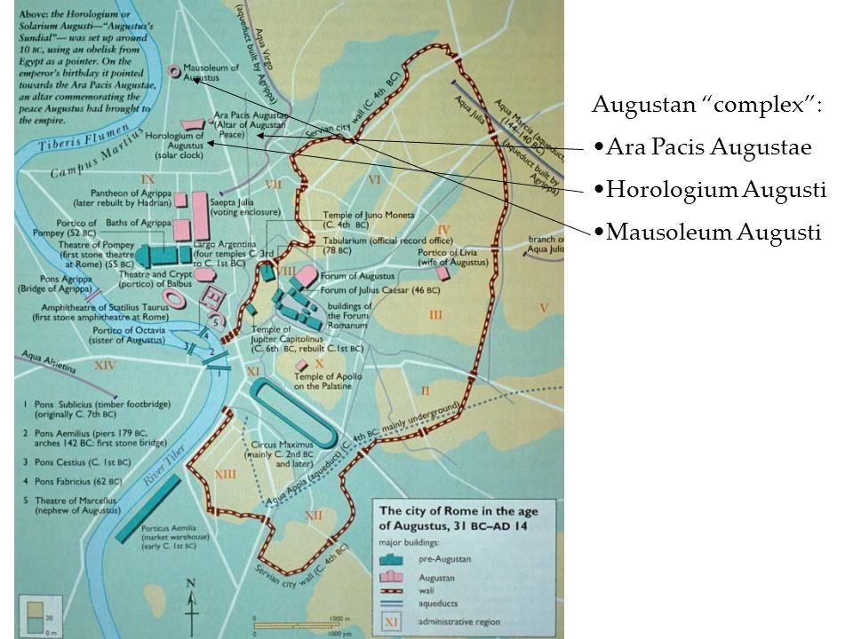 Augustan complex : Ara Pacis Augustae Horologium Augusti Mausoleum Augusti