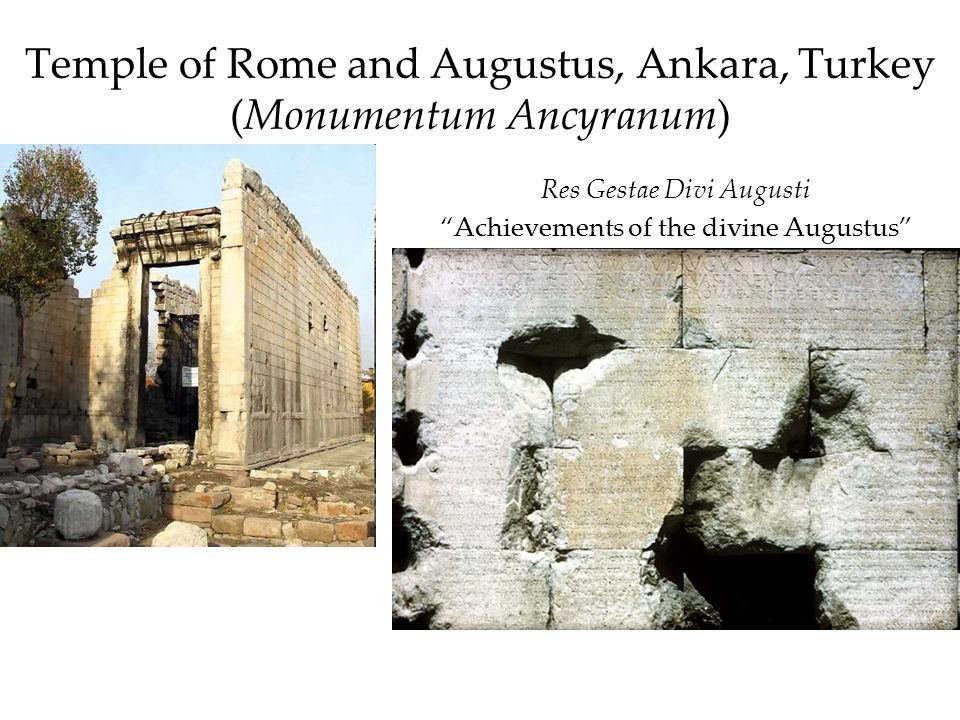 Temple of Rome and Augustus, Ankara, Turkey (Monumentum Ancyranum)