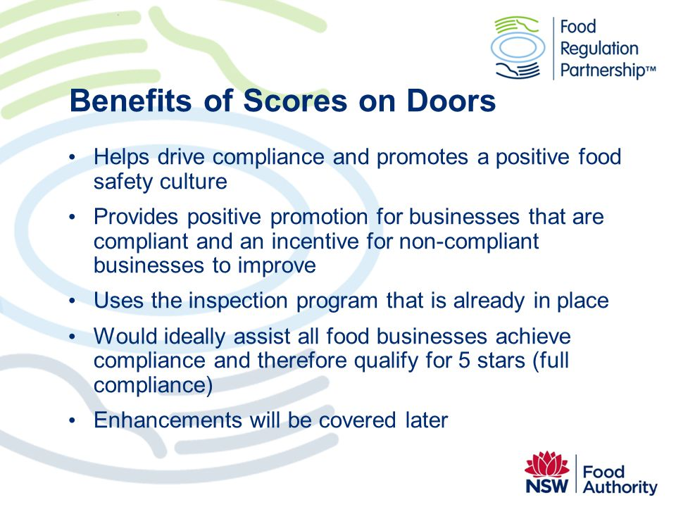 Benefits of Scores on Doors