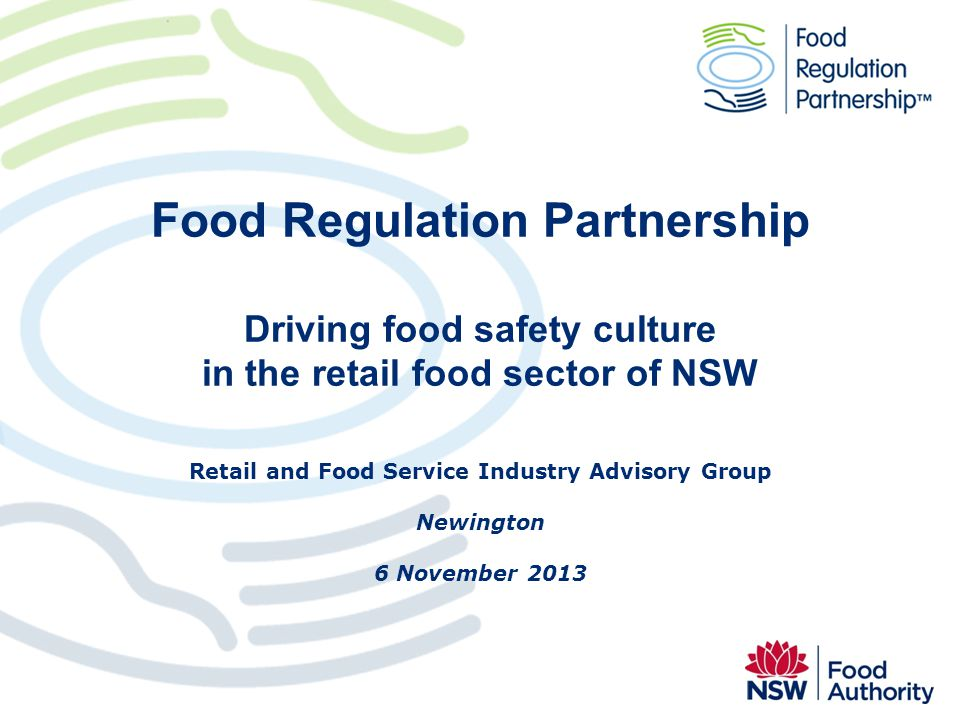 Retail and Food Service Industry Advisory Group