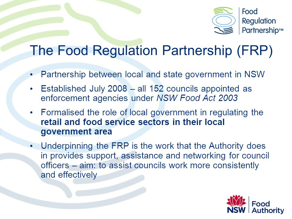 The Food Regulation Partnership (FRP)