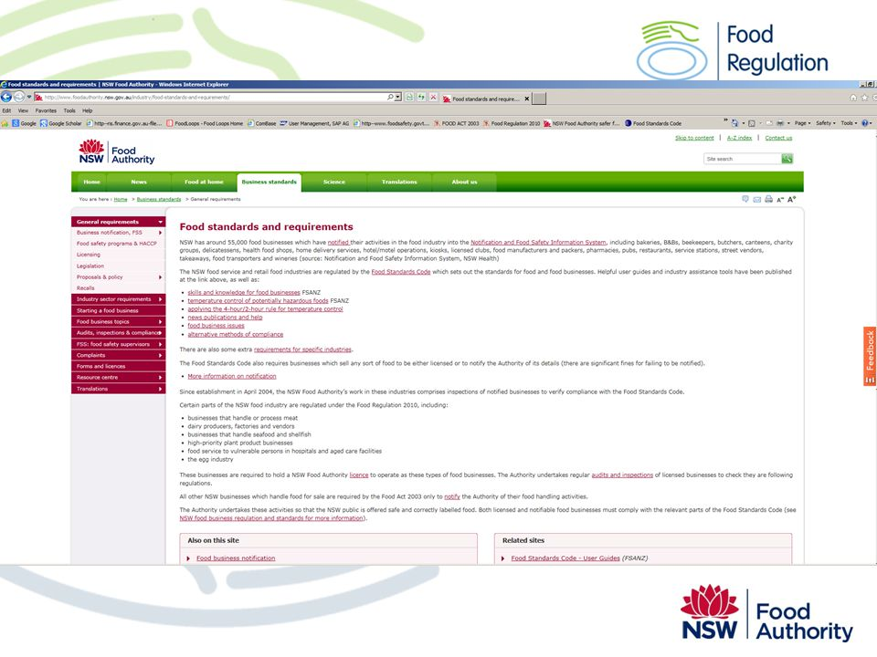 In 2009 the Authority developed a protocol to explain what food businesses must do to demonstrate that any alternative method still achieves an equivalent food safety outcome and not adversely affect the safety and suitability of the food.