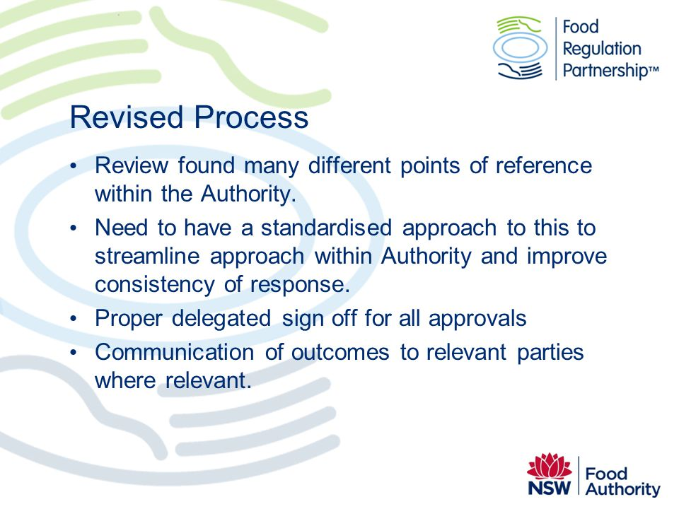Revised Process Review found many different points of reference within the Authority.