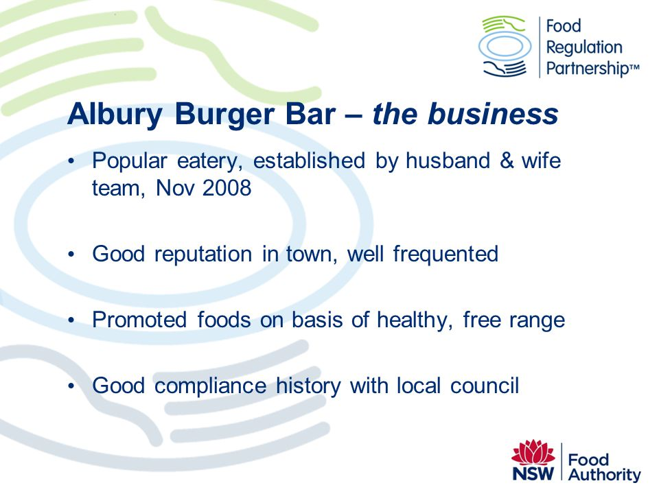 Albury Burger Bar – the business