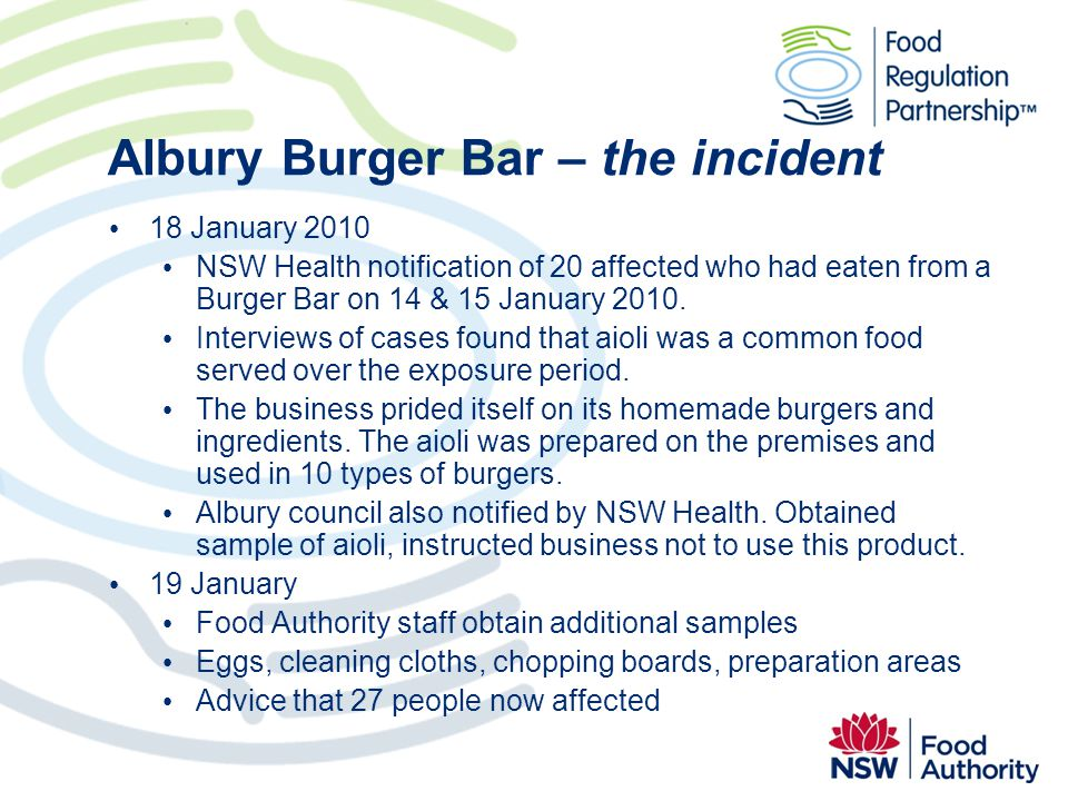 Albury Burger Bar – the incident