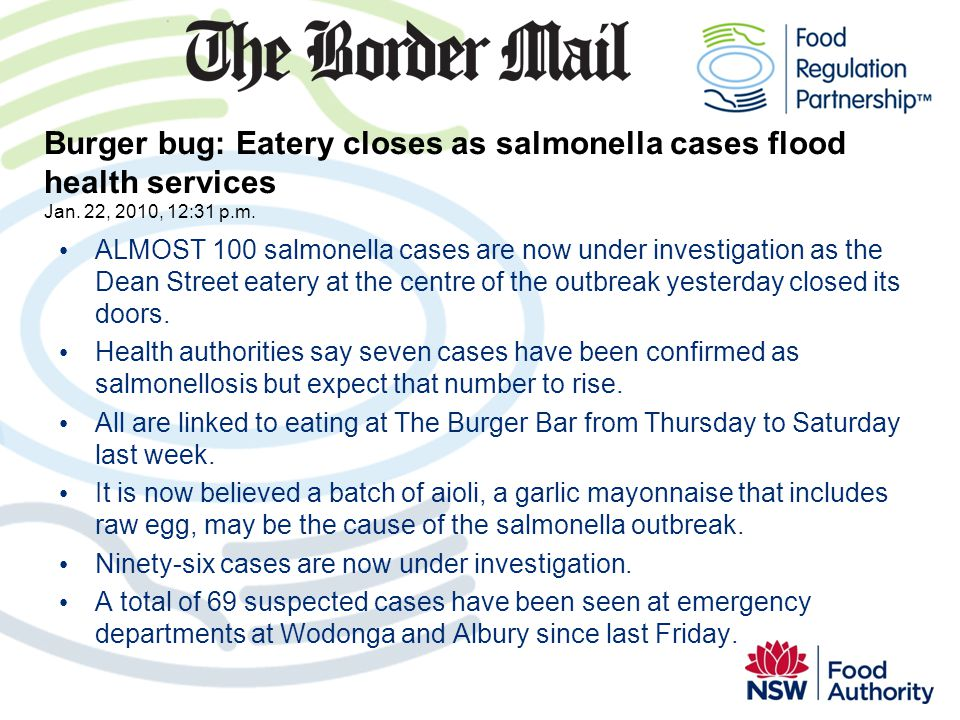 Burger bug: Eatery closes as salmonella cases flood health services