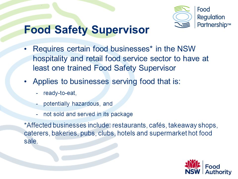 Food Safety Supervisor